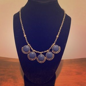 Blue and gold Lucky Brand necklace